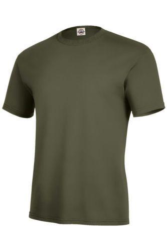 4f945c3c36c Delta Apparel Pro Weight Mens 100% Cotton Moss Green Plain T-Shirt ...