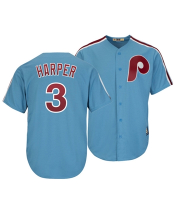half off 95e50 a38d7 Men's Bryce Harper Philadelphia Phillies Player Replica Cool ...