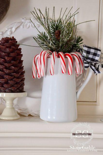 stonegable a farmhouse christmascandy canes - A Farmhouse Christmas