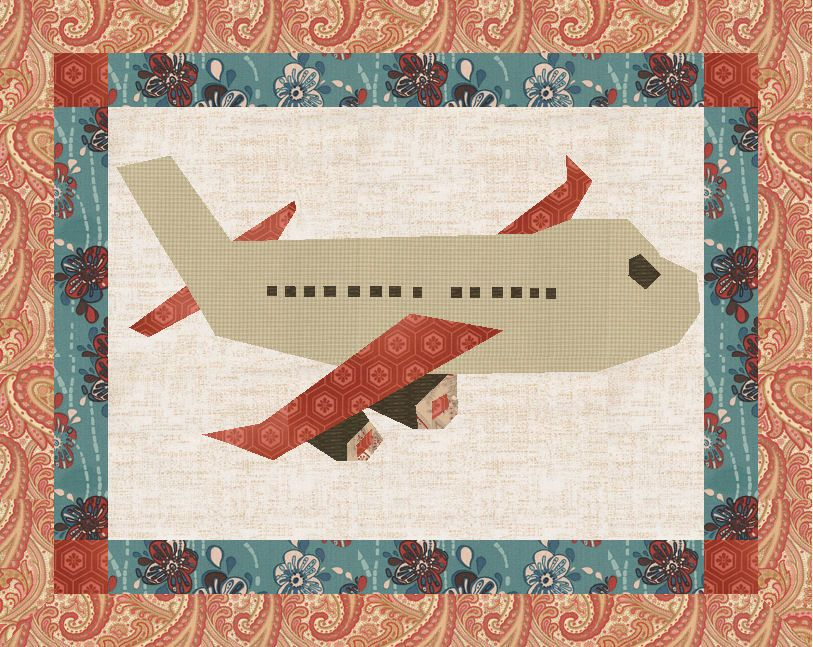 PDF Pattern Download Jet Airplane plane Foundation Paper Piecing ... : country creations quilt shop - Adamdwight.com