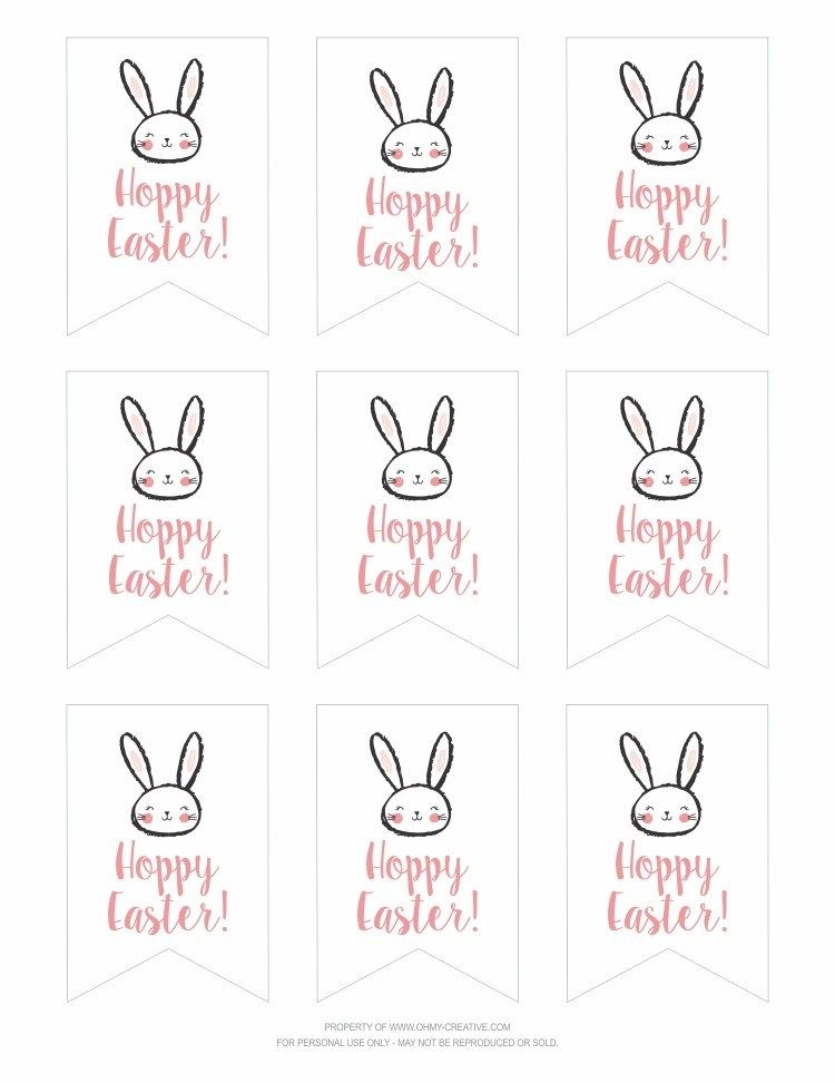 Free Printable Hoppy Easter Gift Tags Oh My Creative Hoppy Easter Gift Tag Easter Gift Tag Happy Easter Printable