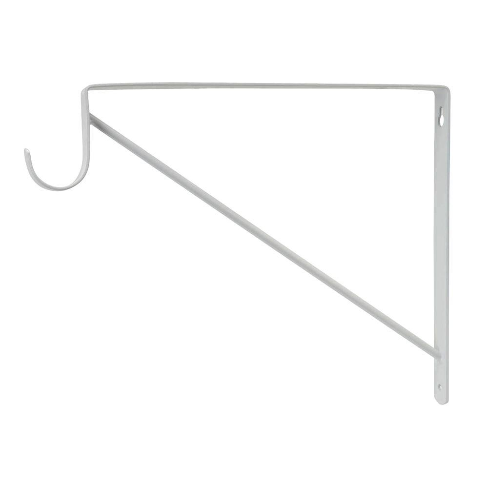 Everbilt White Heavy Duty Shelf And Rod Support Accommodates For Both Storage A Closet Attractive Finish Elegant Design Complements