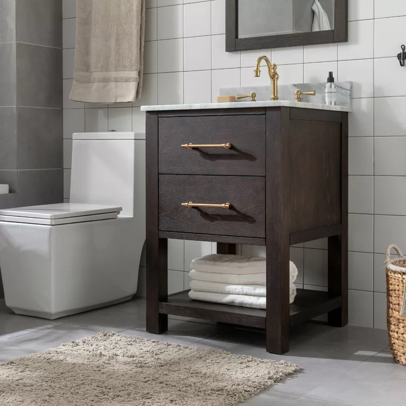 Hanlin Fouke 24 Single Bathroom Vanity In 2020 Single Bathroom