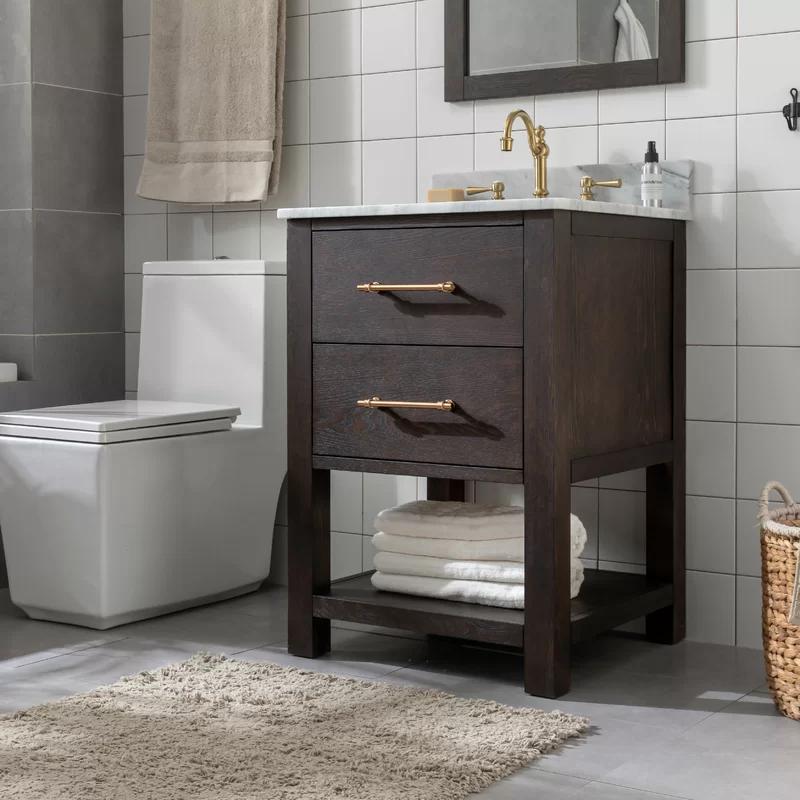 Hanlin Fouke 24 Single Bathroom Vanity In 2020 Single Bathroom Vanity Bathroom Vanity 24 Inch Vanity