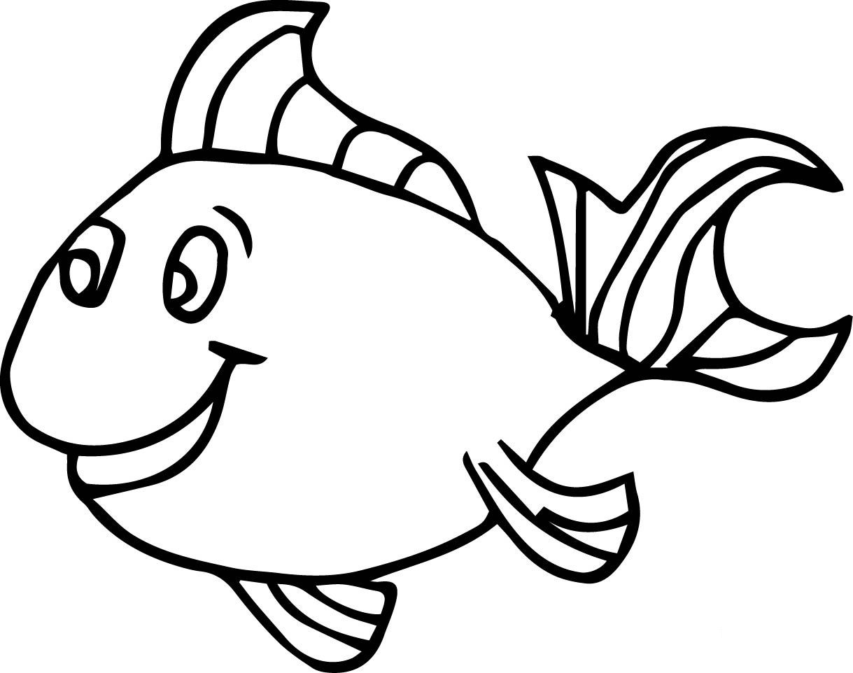 Fish Coloring Pages For Kids Preschool And Kindergarten Fish