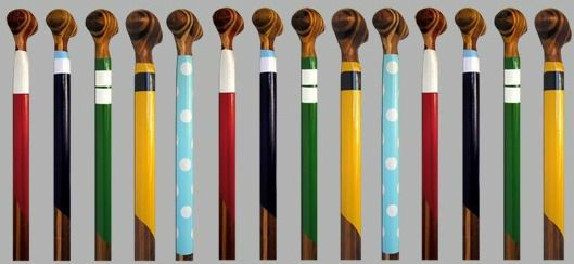 Painted Canoe Paddle Blade