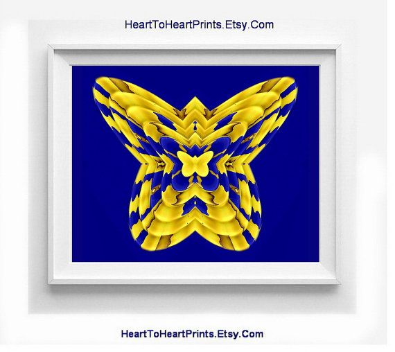 Rustic Wall Decor Gold Navy Vintage Home Decor Butterfly Wall | Gold ...