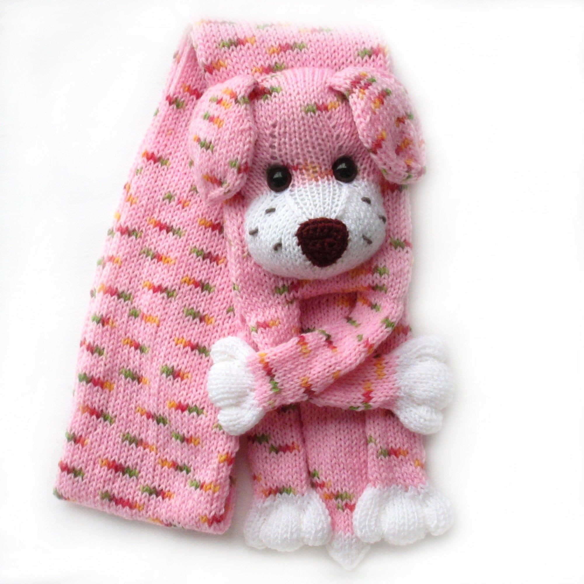 Photo of Knitted dog scarf,Knitted scarf,Animal scarf,Dog scarf,Knit scarf,Knitted puppy