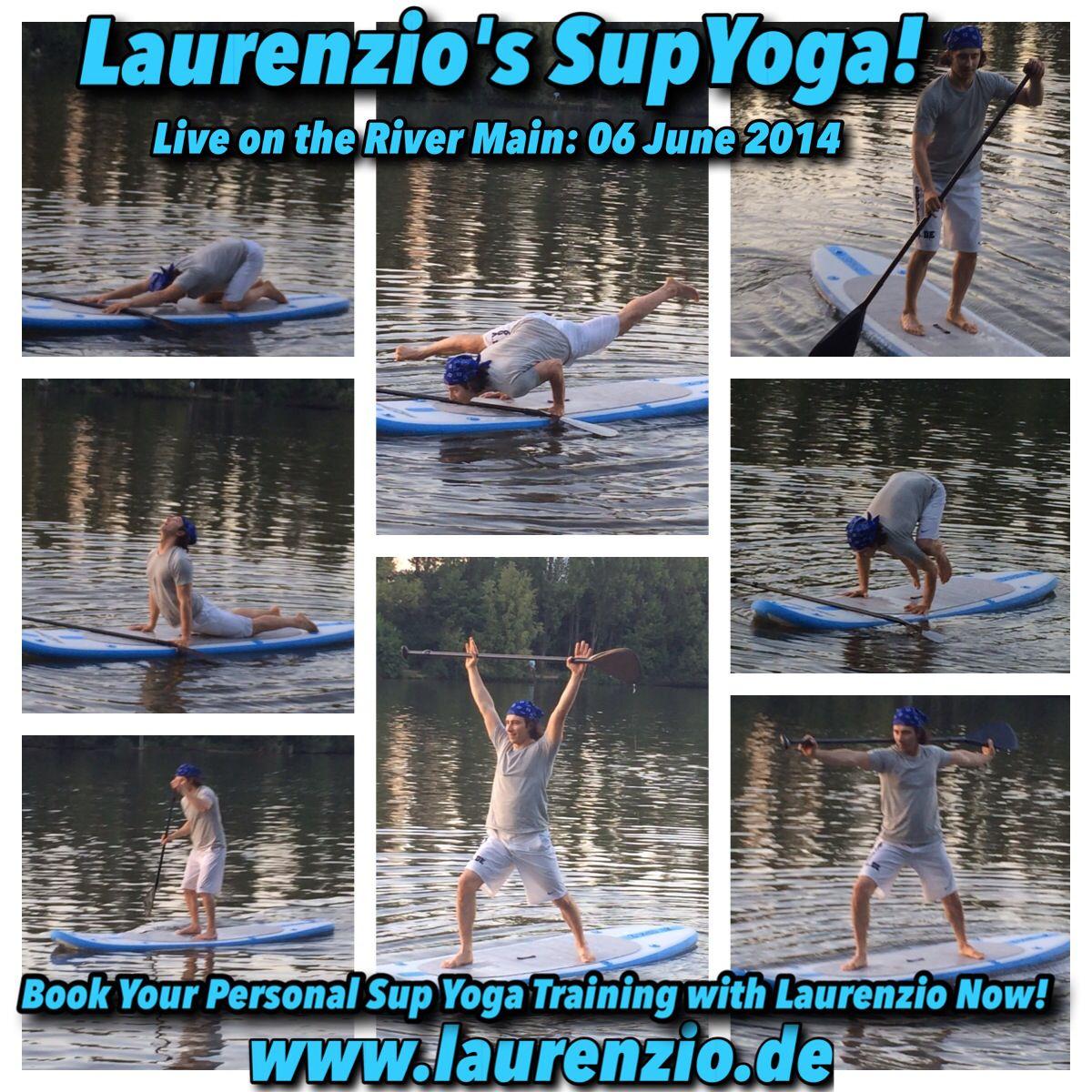 Die Sup Yoga Saison mit Laurenzio ist eröffnet! Ich habe gerade eine schöne Sunset Sup Yoga Session auf dem Main gemacht und meine 2 aufblasbaren Supboards und Carbon Paddel zum ersten Mal getestet. Es ging alles Super ohne dass ich Baden ging ;-). Wenn du Sup Yoga ausprobieren möchtest dann lass es mich wissen. Ab sofort biete ich 1x1 Personal Sup Yoga Training auf dem Main oder einen ruhigen geeigneten See deiner Wahl. Anfragen unter: info@laurenzio.de oder unter Tel: 0176-32101451