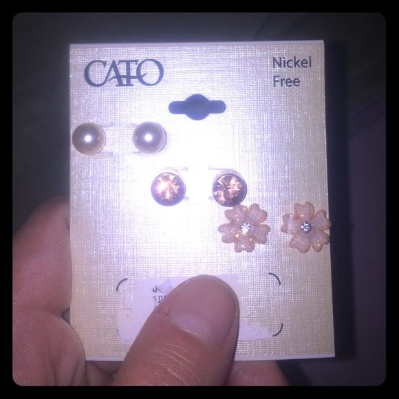 Cato earrings Bought them. Then never wore them. Earlobes closed up  Cato Jewelry Earrings