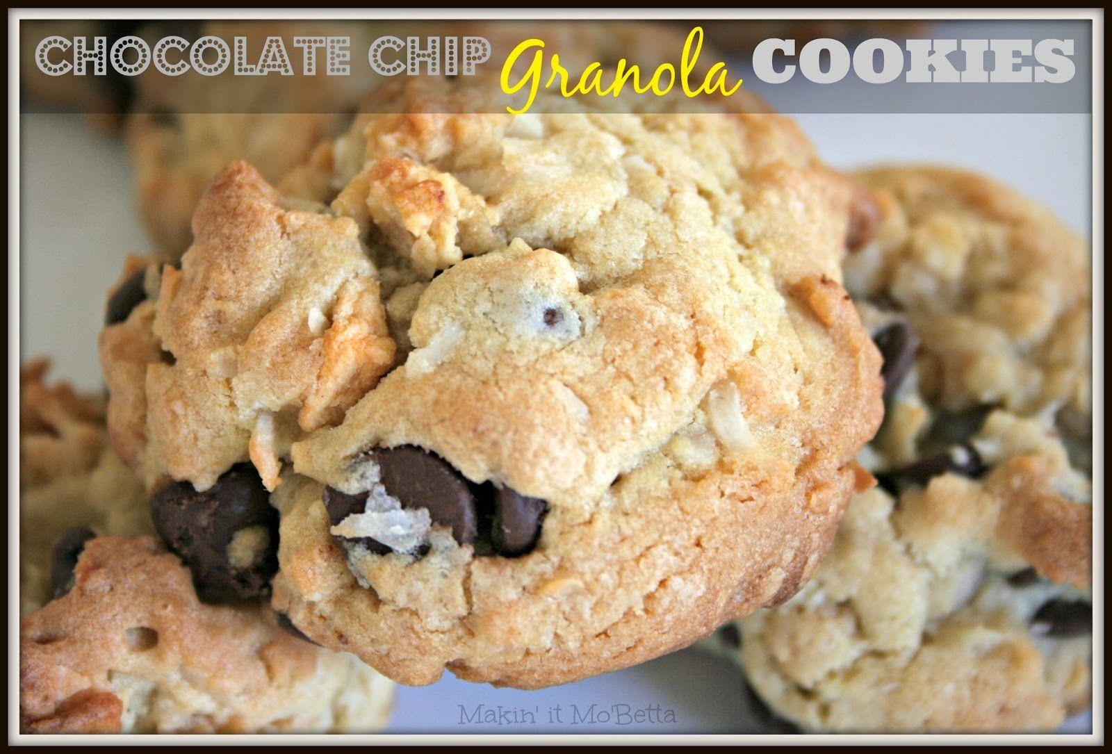 Makin' it Mo' Betta: Chocolate Chip Granola Cookies