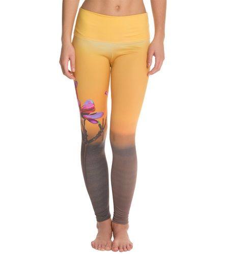de65e98697105c Om Shanti Clothing Sunset Blossom Printed Performance Legging at  YogaOutlet.com - Free Shipping