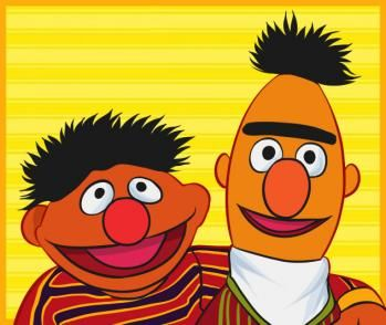 Ernie & Bert   Cartoon characters, Sesame street, Cartoon