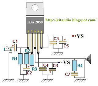 ic TDA2050 based 32W HI-FI AUDIO POWER AMPLIFIER