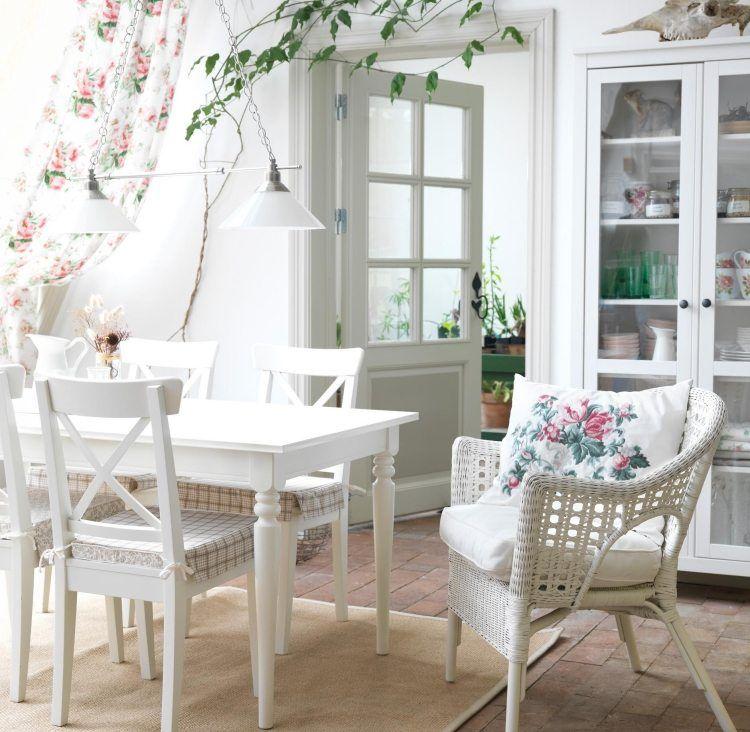 Esszimmer landhausstil ikea  Ingatorp Esstisch in weiß perfekt für Shabby Chic Einrichtung ...