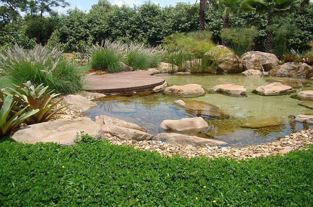 Lago artificial pesquisa google piscinas pinterest for Artificial fish pond