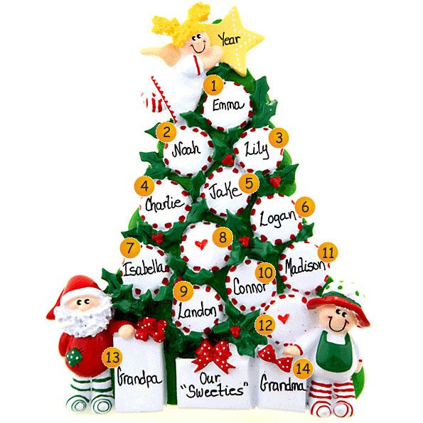 Peppermint Tree Many Names Tabletop Decoration Personalized Ornaments For You
