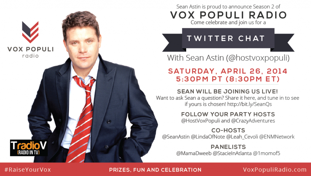 Have You Heard Sean Astin S Vox Populi Broadcast Seanastin Want To Chat About It Join Me Dawn Cheapisthenewclassy Vox Populi Twitter Chat Talk Radio
