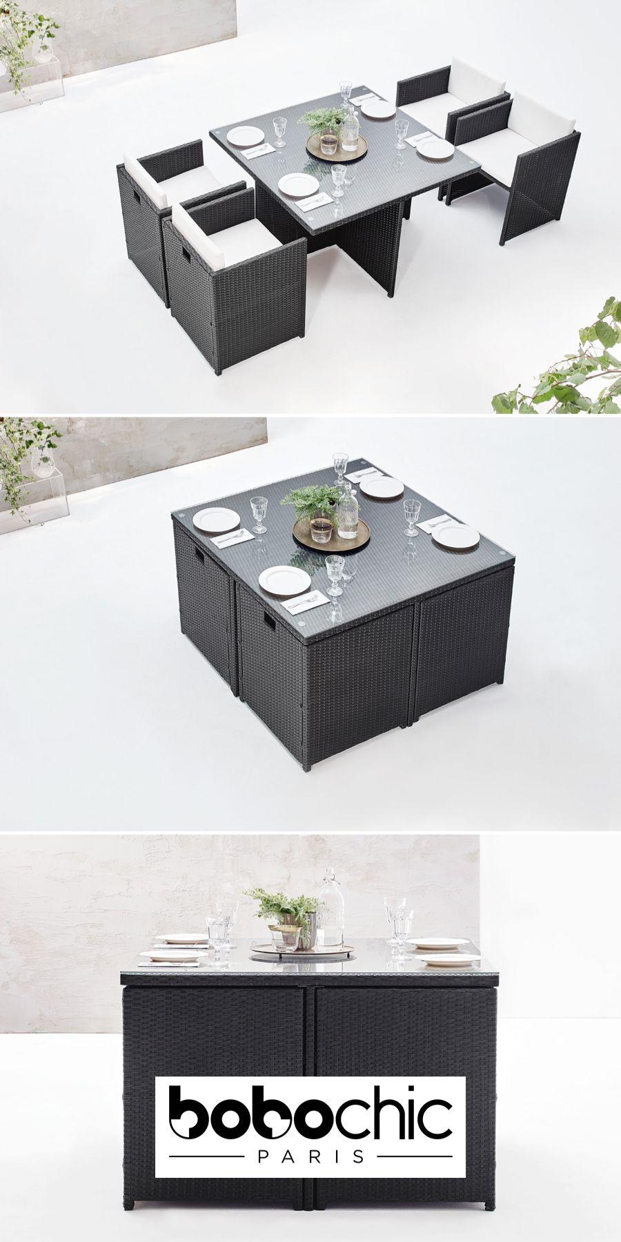 d5260b6619f8e Bobochic Garden : le meuble malin pour la petite terrasse pour 4 invités  (existe aussi