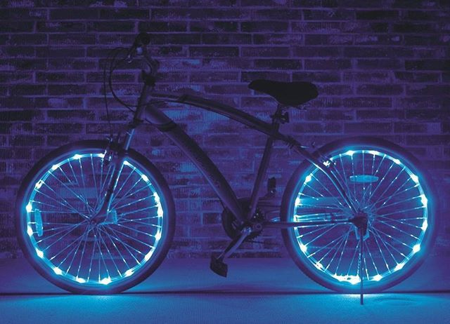 Night Ride Blue Lights Bicycle Bike Cycling Wheel Tire Spoke LED Light  UP