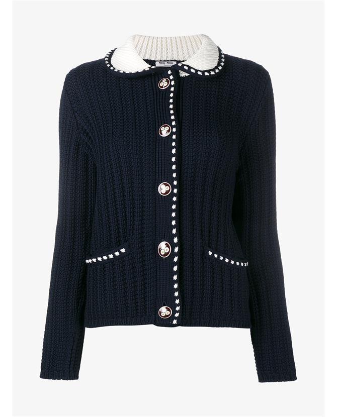 e8f32900c2 MIU MIU Virgin Wool Knitted Cardigan. #miumiu #cloth #   Miu Miu in ...