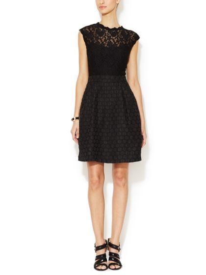 Melinda Lace & Jacquard Dress