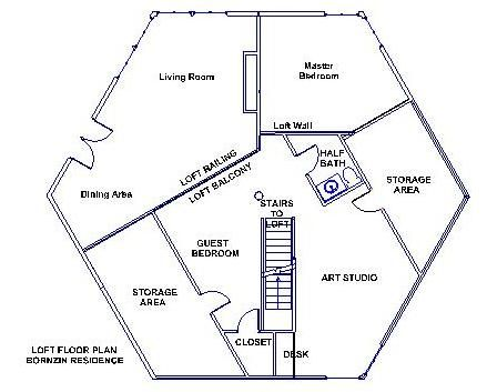 hexagon house floor plans Google Search hexagon home