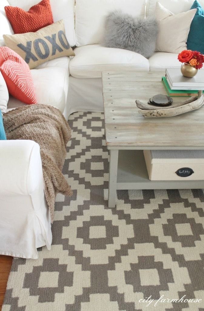 Rustic Chic Family Room New Rug Fall Is In The Air