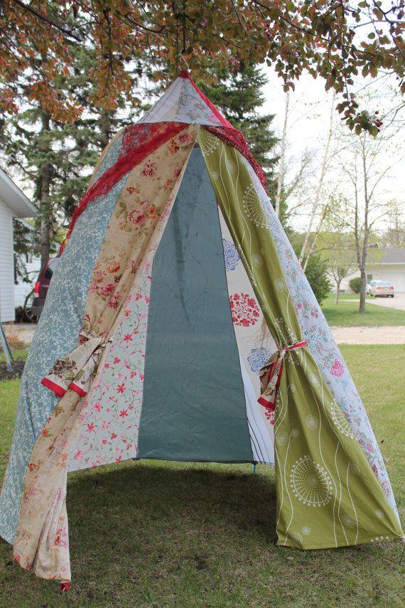 boho canopy play tent upcycled handmade by colouraddiction ...