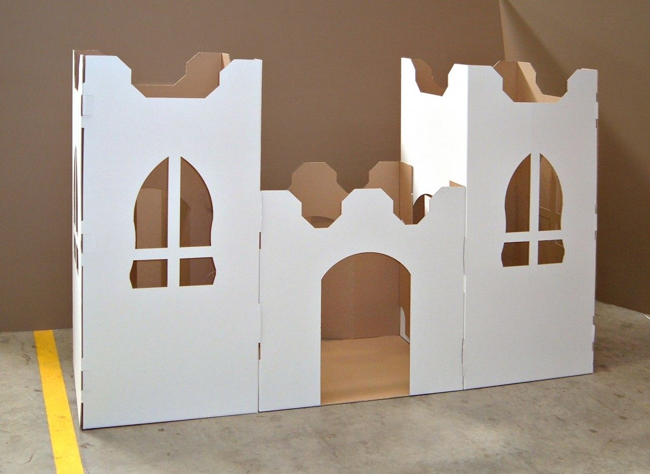 Cardboard Castle Fort Creations4kids Com Au Cardboard Castle Creative Gift Wrapping Green Theme