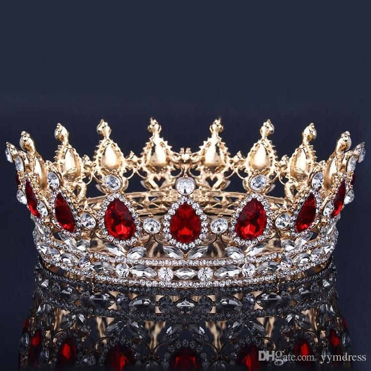 Luxury Bridal Crown Rhinestone Crystals Royal Wedding Crowns Princess Crystal Hair Accessories Birthday Party Tiaras Quinceaner Sweet 16 Wedding Bridal Crystal Fascinators Bridal Crown Rhinestone Crown Princess Queen Headdres Online with $29.33/Piece on Yymdress's Store #crowntiara