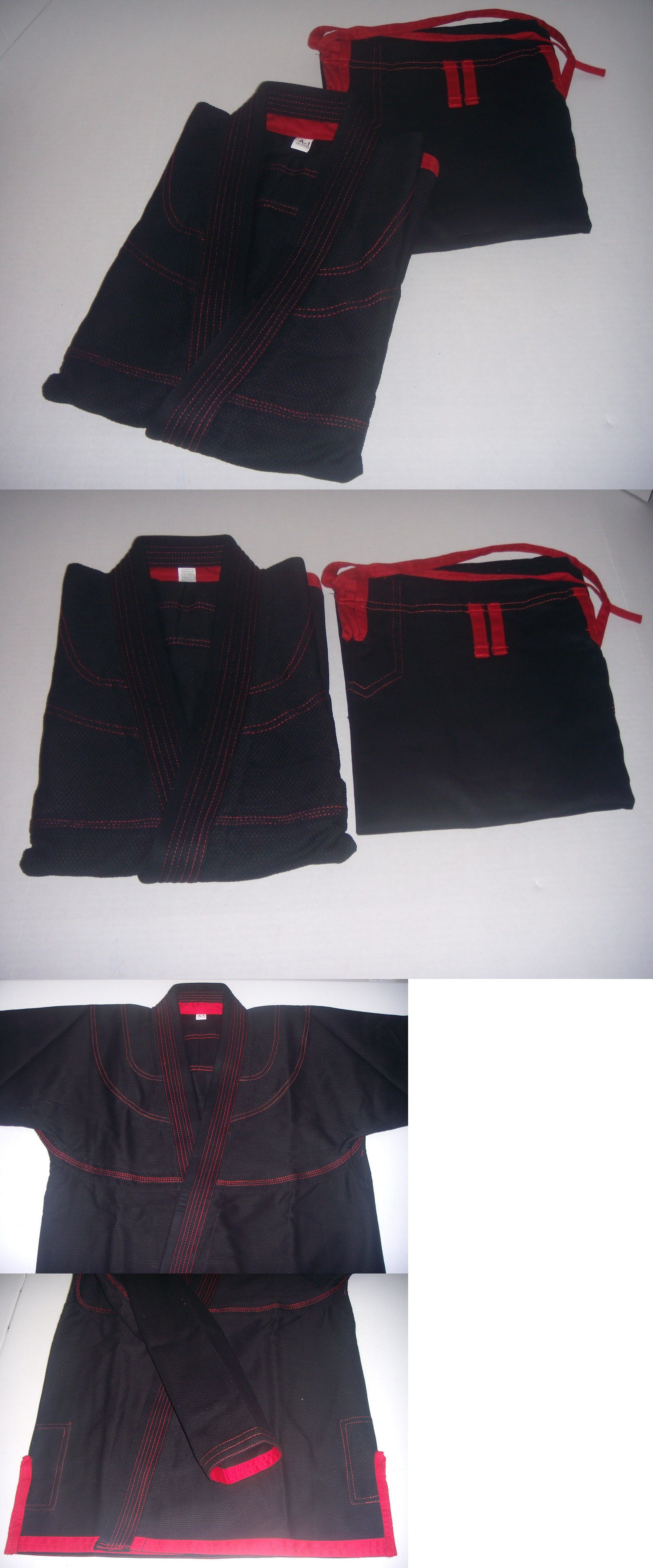 Uniforms and Gis 179774: Brazilian Jiu Jitsu Gi For Mens - Black Red Pearl Weave 100% Cotton Preshrunk -> BUY IT NOW ONLY: $64.95 on eBay!