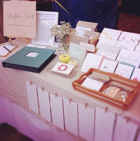 wedding expo idea via letter lark table close up