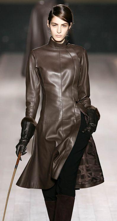 ef78a68c Hermes Coats for Women | Hermes Black leather gloves with mink trim ...
