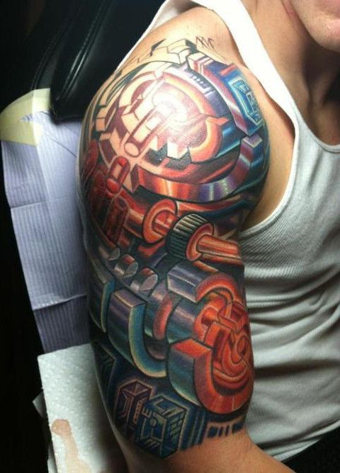 a945c33a4 Pictures : Half Sleeve Tattoos for Men - Colorful Half Sleeve Tattoo Design