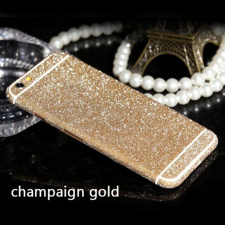 DIY Phone Cases Full Body Bling Diamond Matte Decal Glitter Back Film Sticker Case Cover Skin For Apple iPhone 6 6s 6 Plus