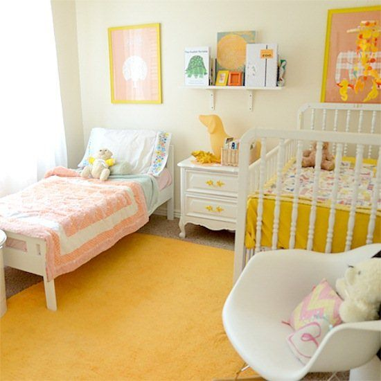 Toddler and nursery room - I don\'t like all the yellow, but a ...