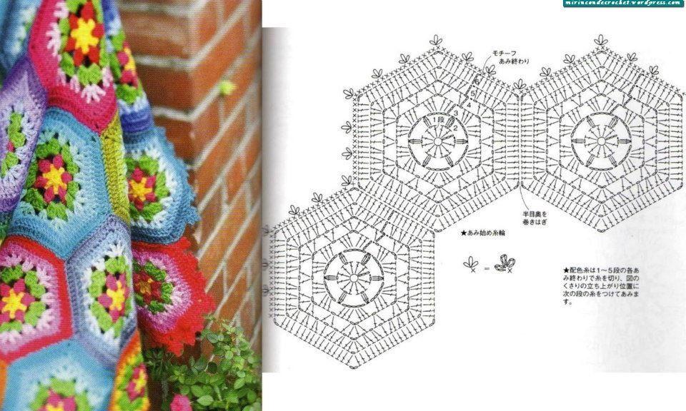 Cinco nuevos motivos para hacer mantas | color | Pinterest | Croché ...