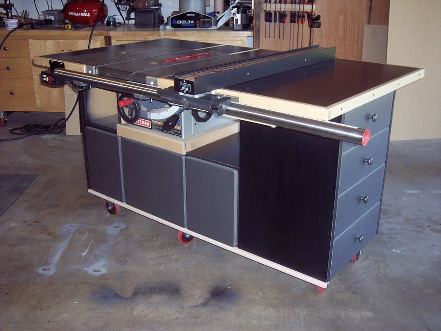 Table Saw Work Station Table Saw Diy Table Saw Woodworking Table Saw