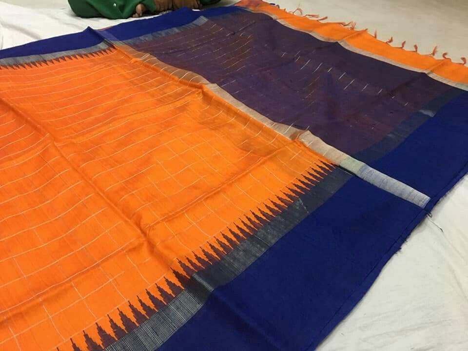 Pure khadi silk sarees Price5500 Order what's app