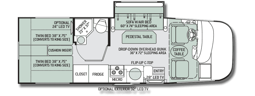 Motorhome Floor Plans With Bunks