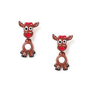 Reindeer Front and Back Earrings
