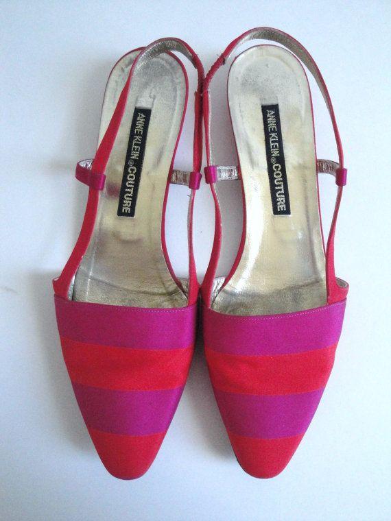 Vintage Anne Klein Couture Shoes size 7.5 8 por mustlovevintage, $65.00