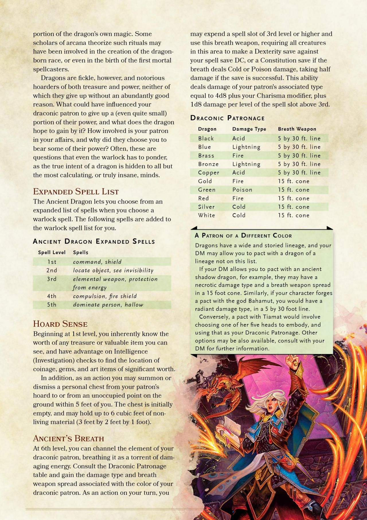 DnD 5e Homebrew — Ancient Dragon Warlock Patronb y    | D&d | Dnd 5e