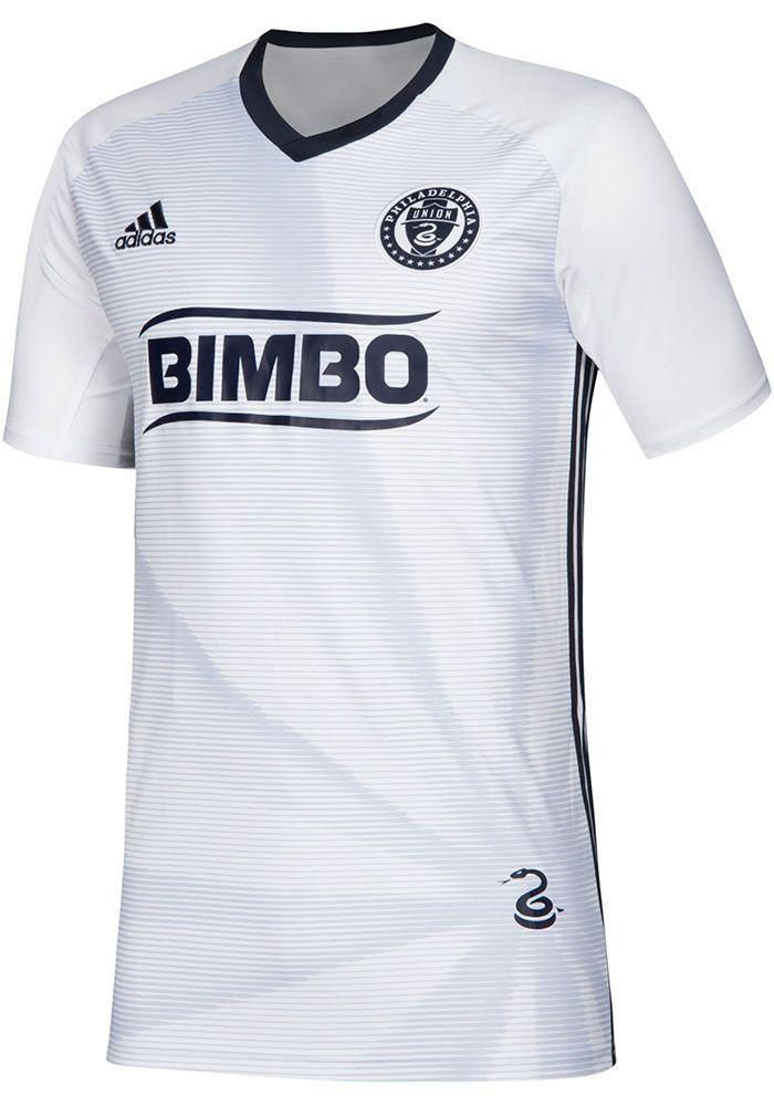 quality design dde11 7b1a3 Adidas Philadelphia Union Youth White 2019 Secondary Soccer ...