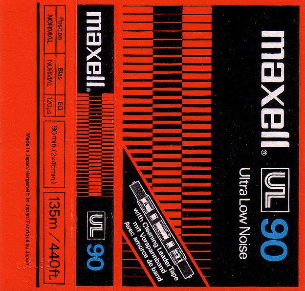 Maxell Cassette Tape UL 90