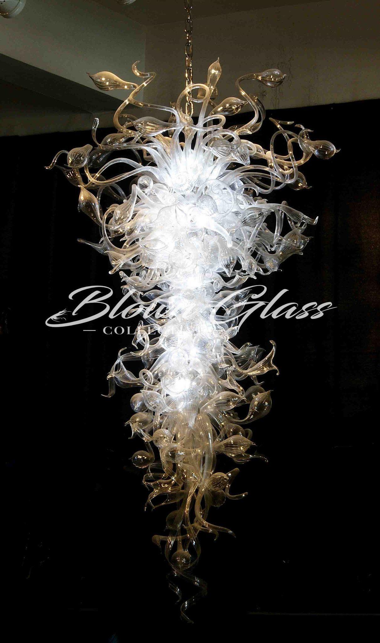 Modern Crystal Pendant Art Glass Chandelier