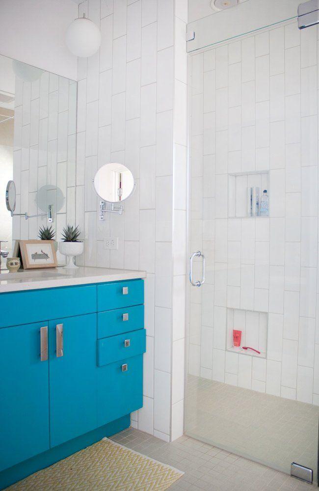 Cass & Carla's Elegant, Playful Home   Turquoise bathroom ...