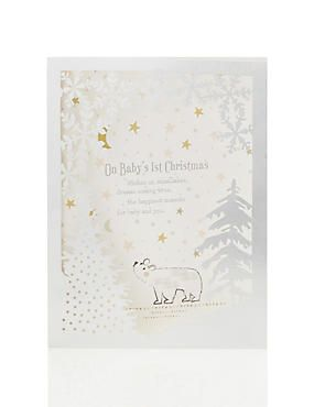 Baby S 1st Christmas Wishes Card Calendar Christmas Pinterest