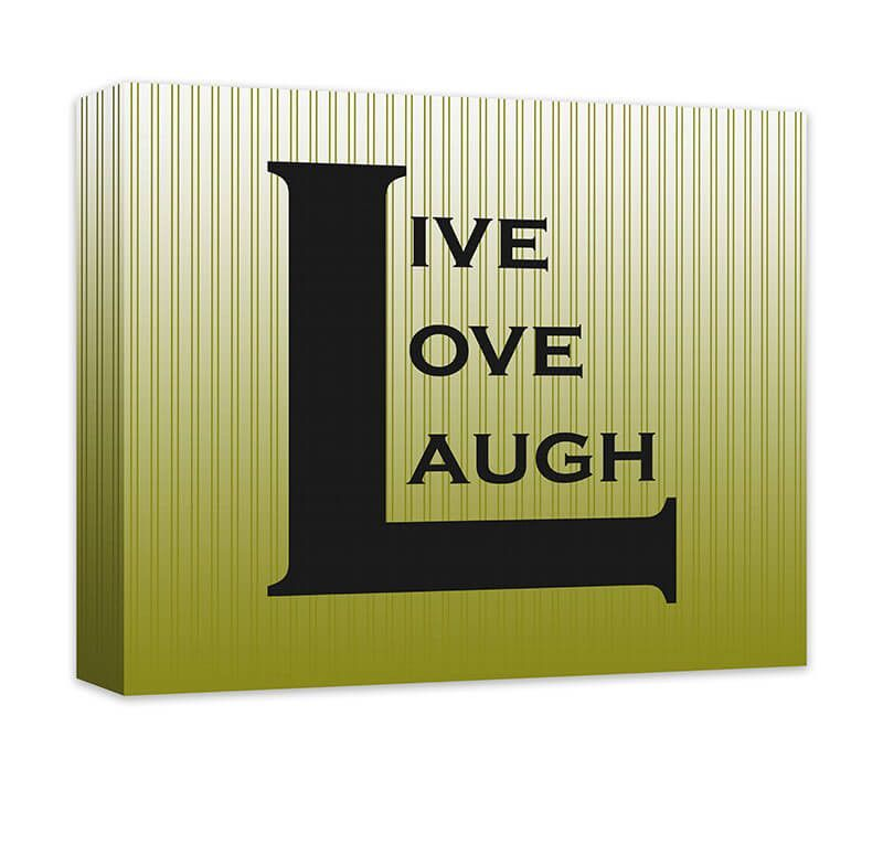 Live Love Laugh II Canvas Wall Art | Word art design, Canvases and ...